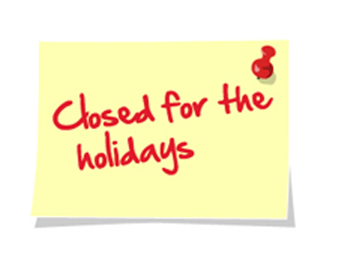 closed for holiday signs